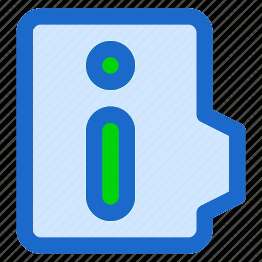 alt, document, file, folder, format, information icon