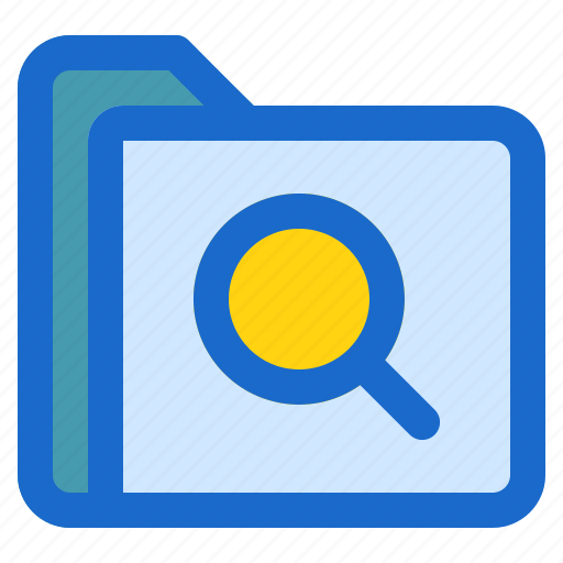document, file, folder, format, search icon