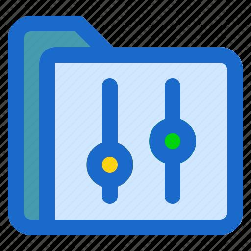 document, file, folder, format, setting icon