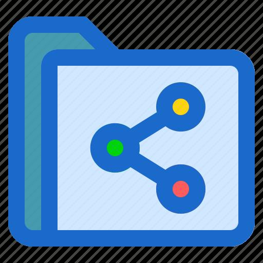 document, file, folder, format, share icon