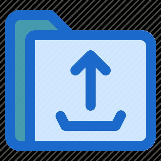 document, file, folder, format, upload icon