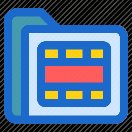 document, file, folder, format, video icon