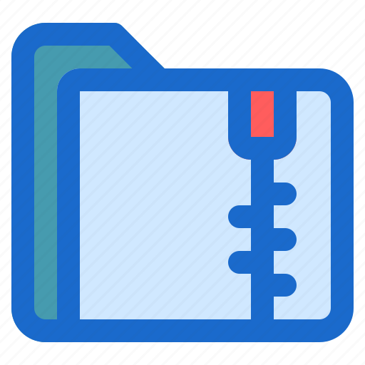 document, file, folder, format, zip icon