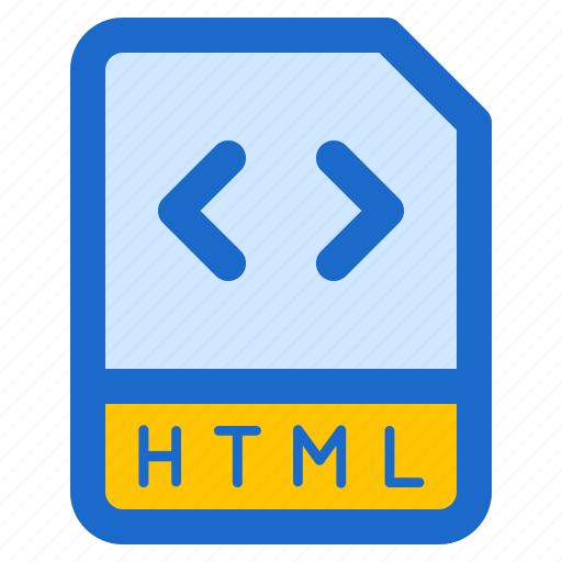 document, file, folder, format, html icon
