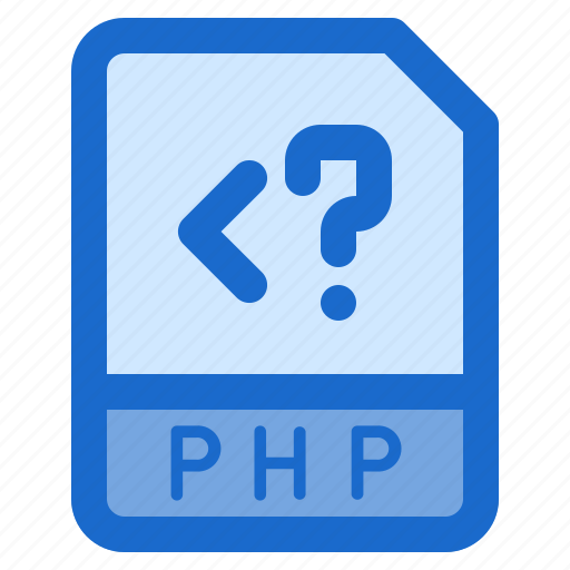 document, file, folder, format, php icon