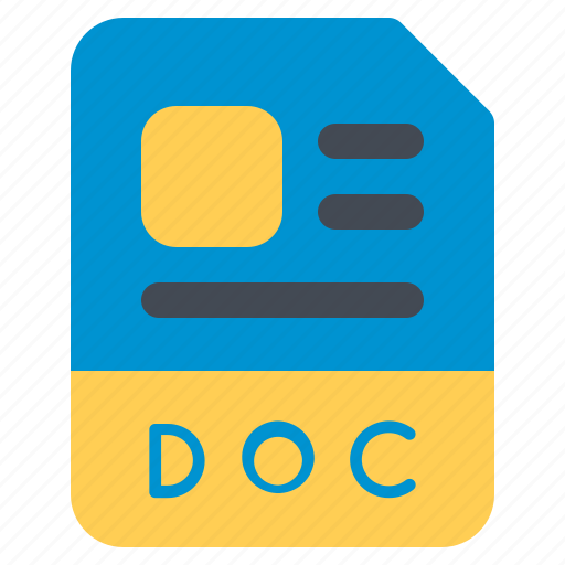 doc, document, file, folder, format icon