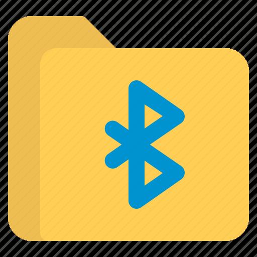 bluetooth, document, file, folder, format icon