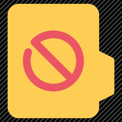 alt, document, file, folder, forbidden, format icon