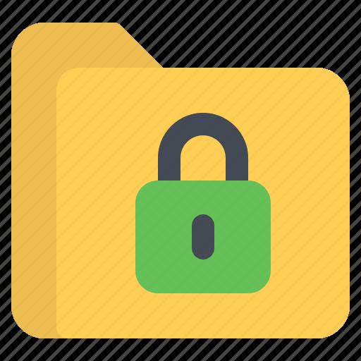 document, file, folder, format, lock icon