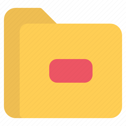 document, file, folder, format, minus icon