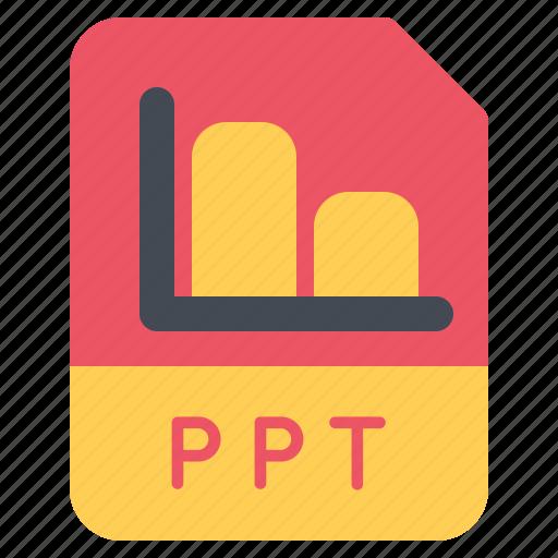 document, file, folder, format, ppt icon