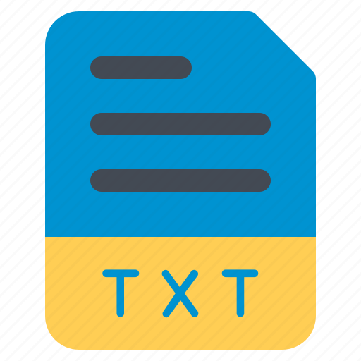 document, file, folder, format, txt icon