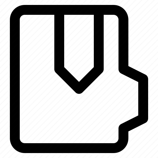 alt, bookmark, document, file, folder, format icon