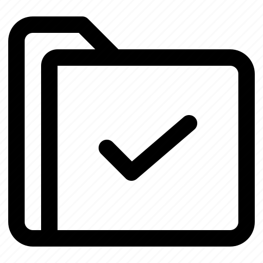 check, document, file, folder, format icon