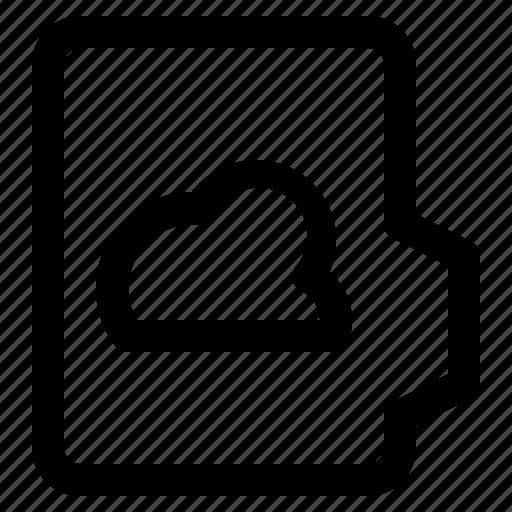 alt, cloud, document, file, folder, format icon