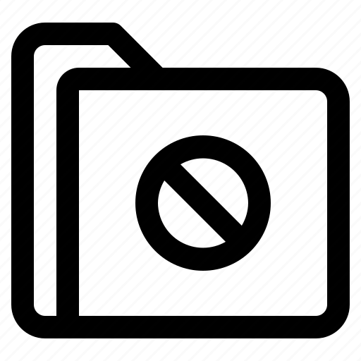 document, file, folder, forbidden, format icon