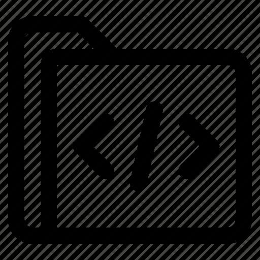 document, file, folder, format, html icon