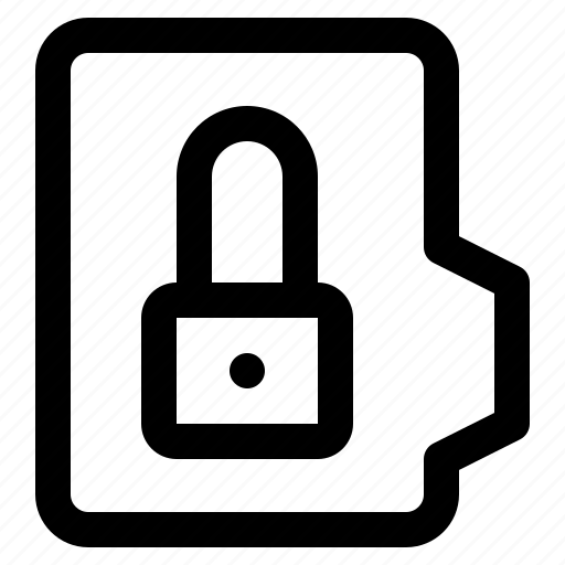 alt, document, file, folder, format, lock icon