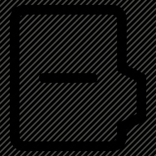 alt, document, file, folder, format, minus icon