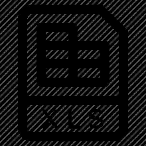 document, file, folder, format, xls icon