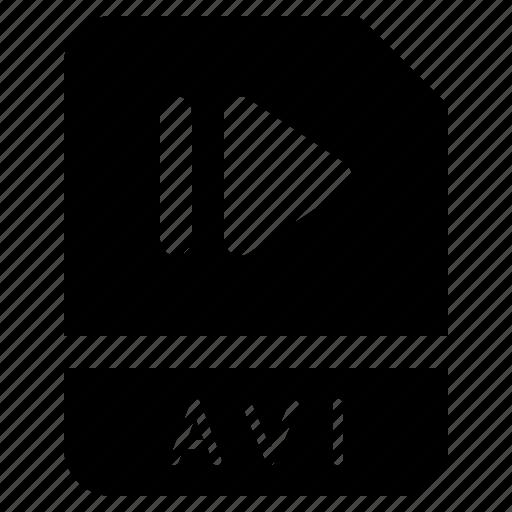 avi, document, file, folder, format icon