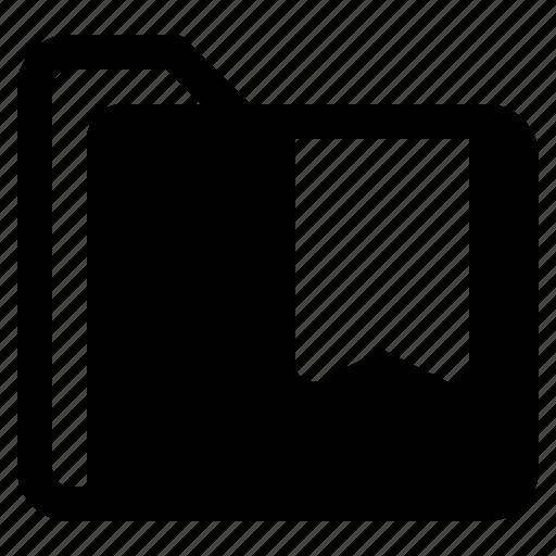 bookmark, document, file, folder, format icon