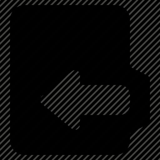 alt, document, file, folder, format, in icon