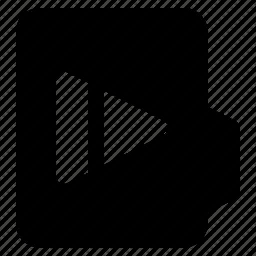 alt, document, file, folder, format, play icon