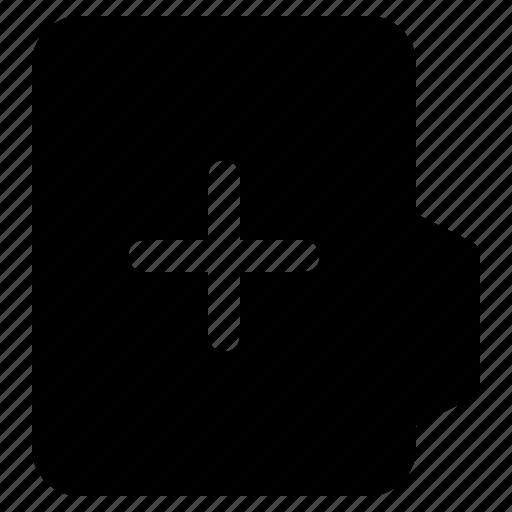 alt, document, file, folder, format, plus icon