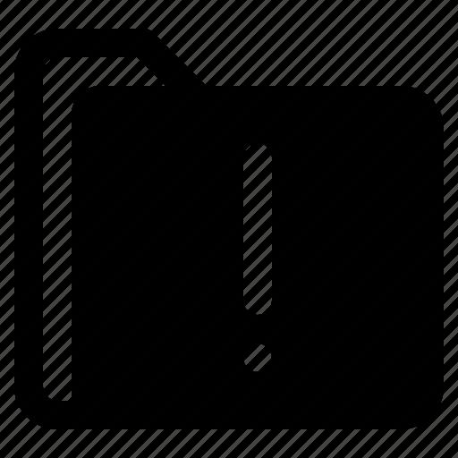 document, file, folder, format, warning icon