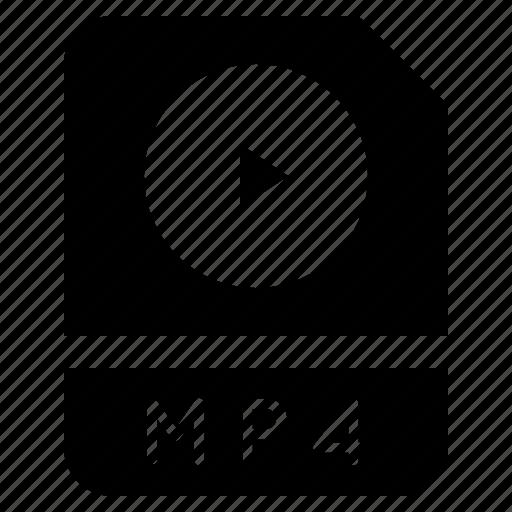 document, file, folder, format, mp4 icon