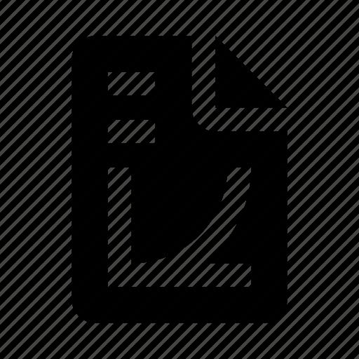 chart, document, file, graph, math icon