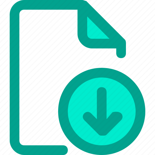 document, download, file, paper icon