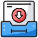 data download, data downloading, document download, file download, online data, saved data icon