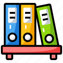 archives, data management, files, folder, official document icon