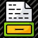 business file, document, file, file folder, folder archive icon