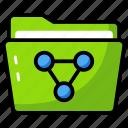 apps folder, data folder, file, folder, folder sharing icon