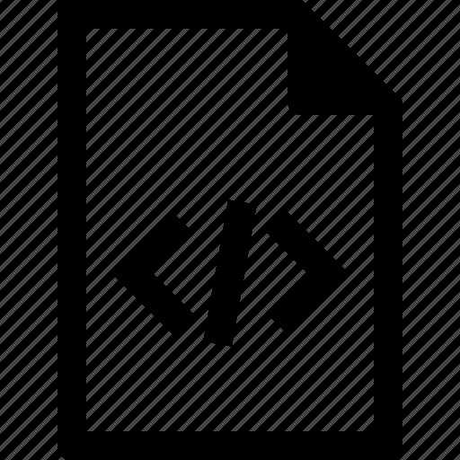 code, document, file, html, programming, xml icon