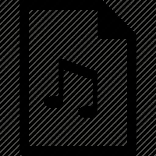 audio, document, file, mp3, music, wav, wma icon