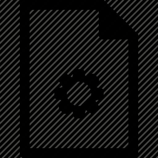 configure, document, file, settings, setup icon