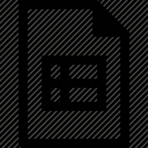 csv, data, document, file, spreadsheet, table, xsl, xslx icon