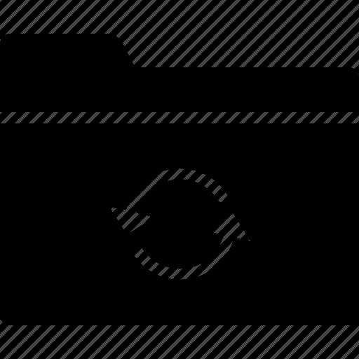 arrow, collection, folder, group, sync, synchronize icon