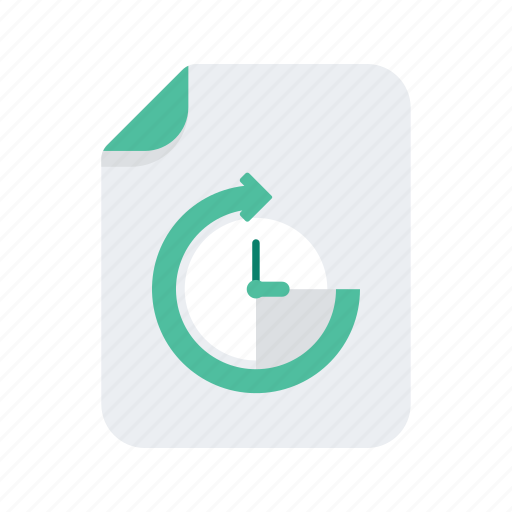 arrow, clock, document, file, files, format, time icon