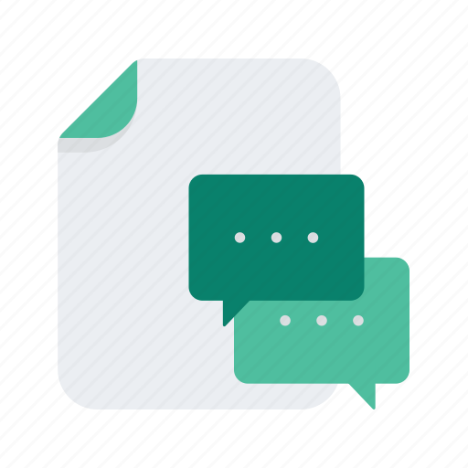 communication, conversation, document, file, files, format, message icon