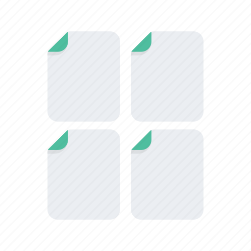 document, extension, file, files, format, multiple icon