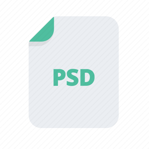 document, extension, file, file type, files, format, psd icon