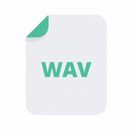 document, extension, file, files, format, wav icon