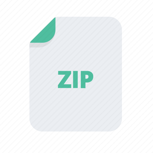 document, extension, file, files, format, zip icon
