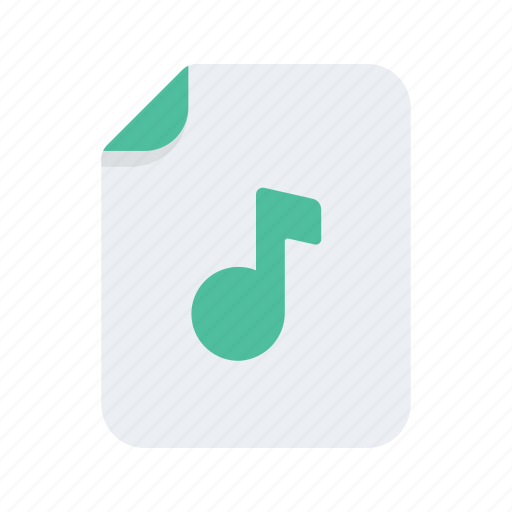 audio, document, file, files, format, music icon