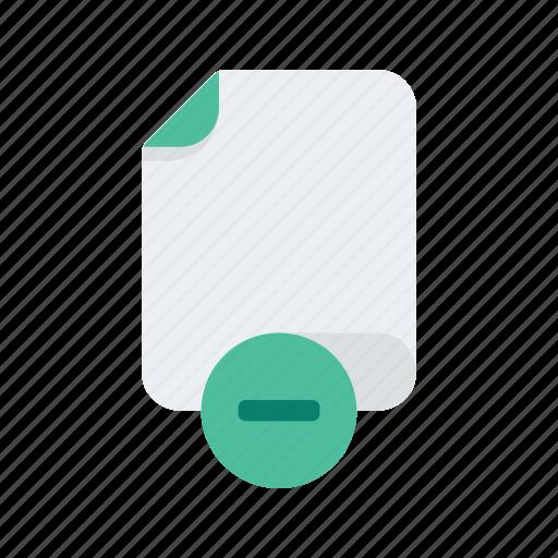 delete, document, file, files, format, minus, remove icon